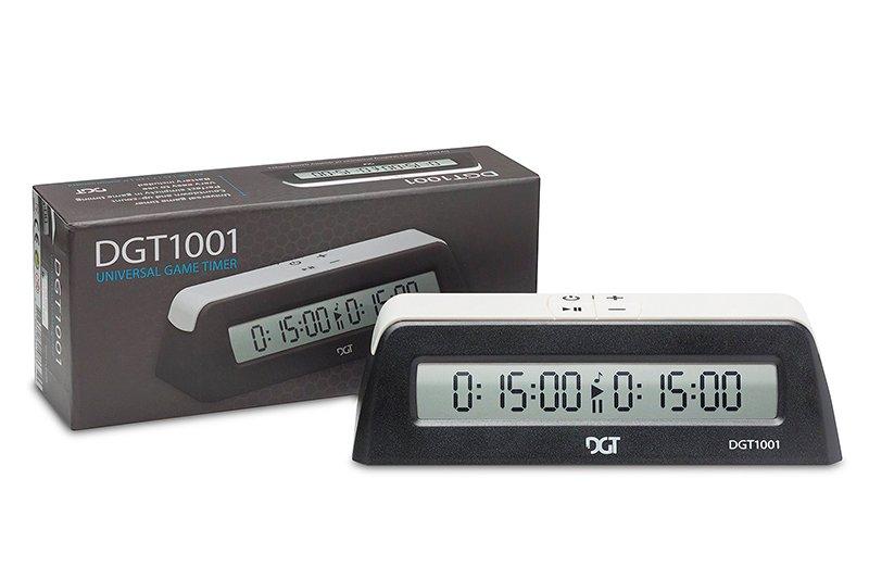 Horloge d'Échecs Noire