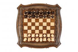 Jeu D'échecs En Bois De Hêtre